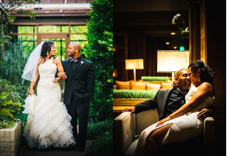 Bride and Groom at Greensboro Wedding