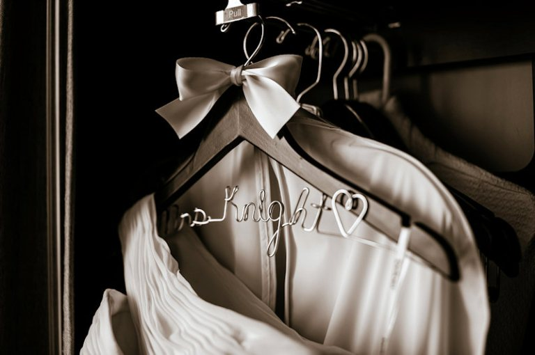 personalized wedding dress hangers