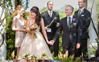 """The happy couple are beaming after saying their """"I do's."""""""