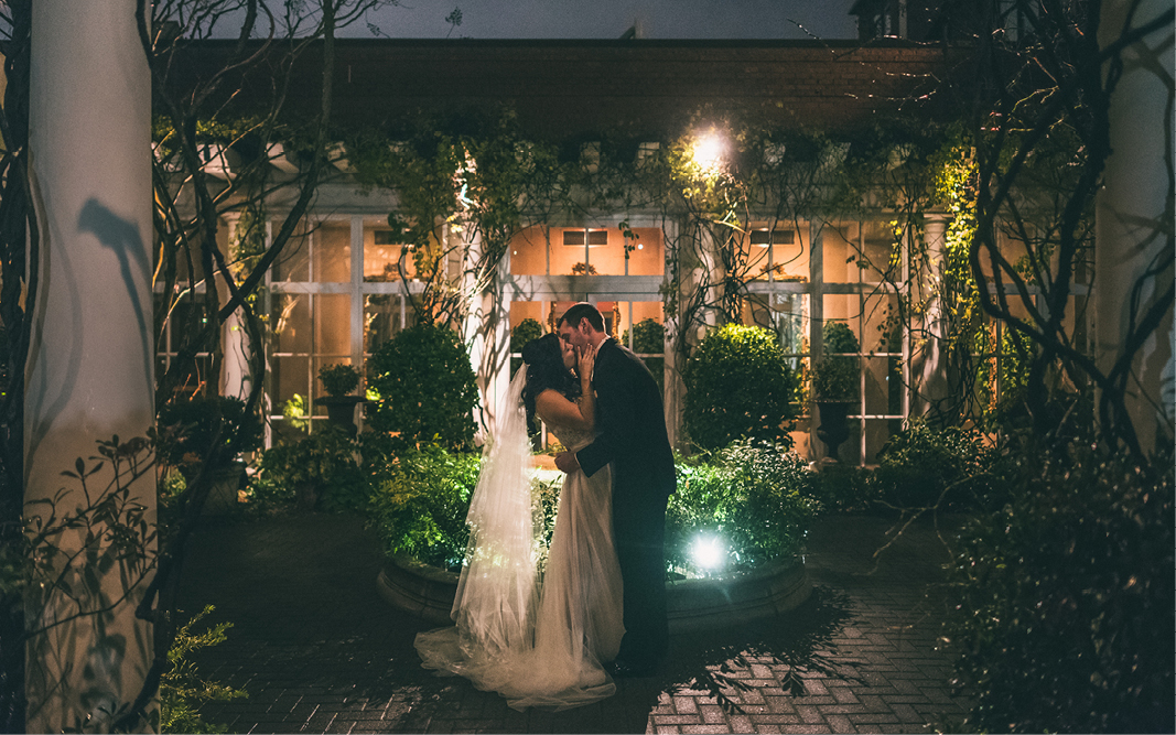 Kevin & Andrea steal away for a romantic wedding at O.Henry Hotel